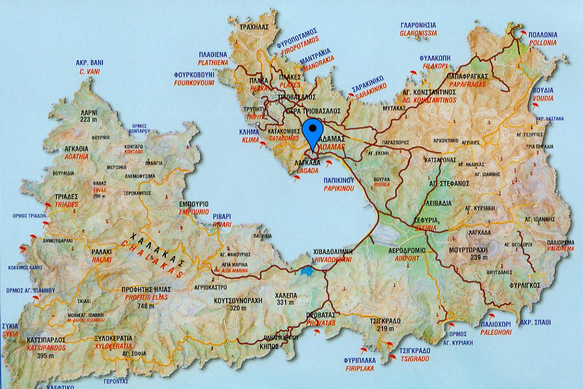 Milos-Tourist-Map